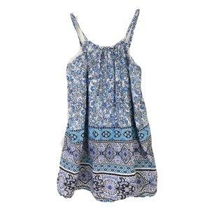🎉 Gap Blue Print Sundress Girl Sz 6 – 7